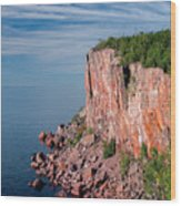 Palisade Head Wood Print