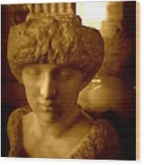 Pallas Au Parthenon Wood Print