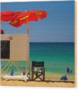 Palm Beach Dreaming Wood Print