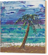Palm Beach Wood Print