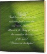 Palm Branch Wood Print
