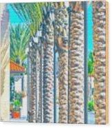 Palm Columns Wood Print