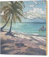 Palm Cove Wood Print