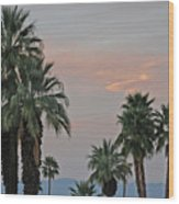 Palm Desert Sunset  Wood Print