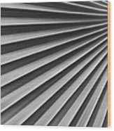 Palm Fan Pattern Wood Print