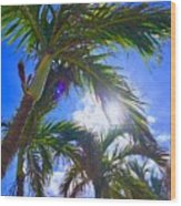 Palm Gazing Wood Print