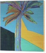 Palm In September, 2016. 24x18, Acrlyic On Canvas. Wood Print