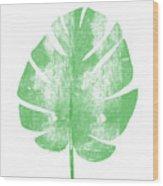 Palm Leaf- Art By Linda Woods Wood Print