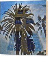 Palm Mural Wood Print