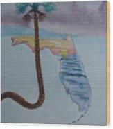 Palm Over Florida Wood Print