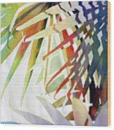 Palm Patterns 2 Wood Print