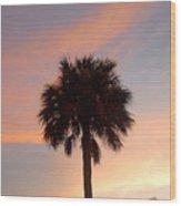Palm Sky Wood Print