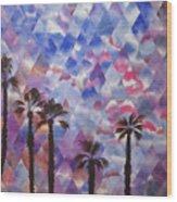 Palm Springs Sunset Wood Print