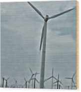 Palm Springs Windmills Wood Print
