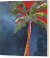 Palm Tree- Art By Linda Woods Wood Print