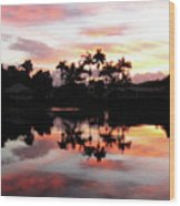 Palm Tree Inlet 2 Wood Print
