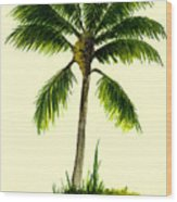 Palm Tree Number 1 Wood Print
