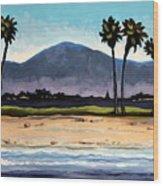 Palm Tree Oasis Wood Print