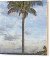 Palm Tree Pencil Wood Print