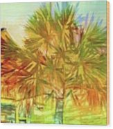 Palm Tree Portrait Wood Print