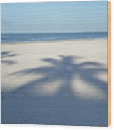 Palm Trees Over Fort Myers Beach Fort Myers Florida Wood Print