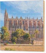 Palma Cathedral D40180 Wood Print