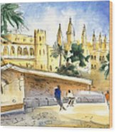 Palma De Mallorca Cathedral Wood Print