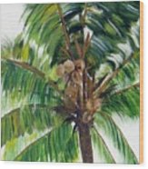 Palma Tropical Wood Print