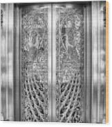 Palmer Hotels Peacock Door Wood Print