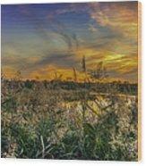 Palmer River At Sunset Wood Print