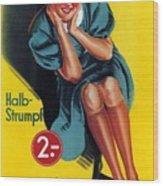 Palmers - Halb-strumpf - Vintage Germany Advertising Poster Wood Print