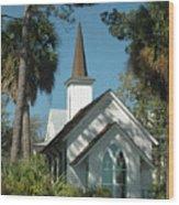 Palmetto Bluff Chapel Wood Print