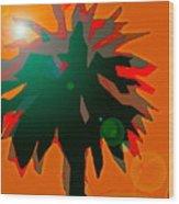 Palms 5 Wood Print