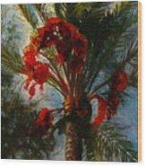 Palm's A Glow Wood Print