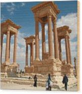Palmyra-tetrapylon Wood Print