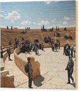 Palmyra-theater Wood Print