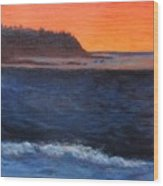 Palos Verdes Sunset Wood Print