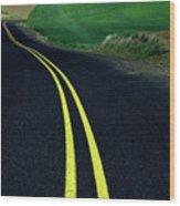Palouse Back Road Wood Print