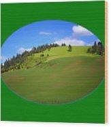Palouse - Landscape - Transparent Wood Print