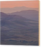 Palouse Morning From Steptoe Butte Wood Print