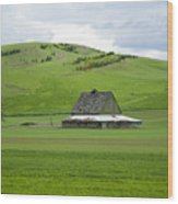 Palouse Old Barn Wood Print