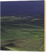 Palouse Storm Wood Print