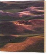 Palouse Undulation Wood Print