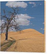 Palouse Wheat Field Wood Print