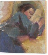 Pam Resting Wood Print