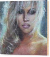 Pamela Anderson Wood Print