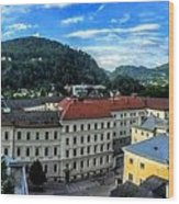 Pamramic Of Salzburg  Wood Print