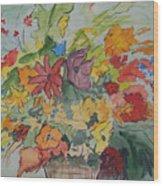 Pams Flowers Wood Print