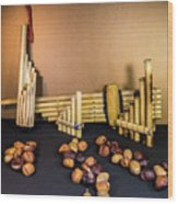 Pan Flutes And Buckeyes Wood Print