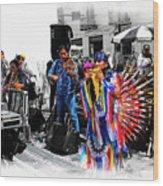 Pan Flutes In Cuenca Wood Print